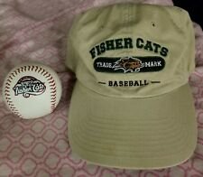 New Hampshire Fisher Cats vintage floppy style Hat and Ball lot men's OSFM Promo