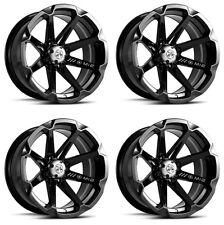 4 ATV/UTV Wheels Set 15in MSA M12 Diesel Black 4/137 10mm HP1K