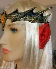 Devil Demon EARS Halloween fancy dress costume accessory makeup Red Latex
