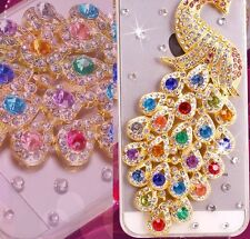 Bling Jewelled Diamond Rhinestone Clear Transparent Peacock Case iPhone 5 5S SE