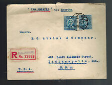 1941 Shanghai China  Registered Cover to USA via Pacific
