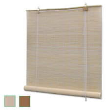 New bamboo Roller Blind Window Hanging Sunshade 2 Colours 6 Sizes Selectable