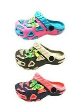 Garden Clogs Shoes For Girl Kids Toddler Slip-On Casual Two-tone Slipper Sandals