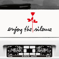 Enjoy the silence schwarz 45cm + Rose rot 20cm Autoaufkleber Tattoo Depeche Mode