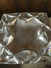 Vintage Art Deco Pewter Serving Platter Tray by Ashleigh Manor
