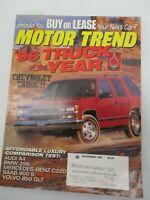 MOTOR TREND MAGAZINE DECEMBER 1995 CHEVROLET TAHOE TRUCK SUV MERCEDES BENZ C220