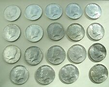 19 KENNEDY HALF DOLLARS, $.50 1964, Circulated, 90% Silver Stored over 50 years