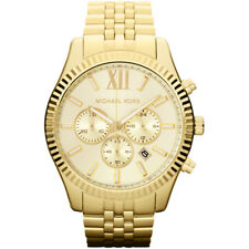 NEW ORIGINAL MICHAEL KORS MENS LEXINGTON GOLD CHRONO WATCH - MK8281 - RRP £269