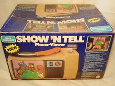 Vtg Child Guidance Sesame Street Show 'N Tell Phono-Viewer w/ Box & 16 Records