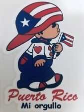 PUERTO RICO BOY with PR BORICUA FLAG COLORS Decal Sticker