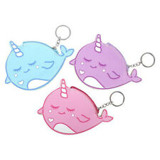 "12 Pc 6.5"" Narwhal Coin Purse Keychain Pouch Kids Prizes Party Favors"