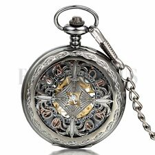 Retro Vintage Roman Numeral Dial Hollow Chinese Knot  Mechaincal Pocket Watch