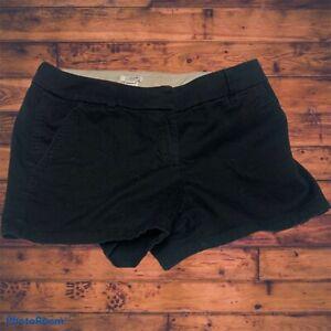 J CREW Women's Chino SIZE 2 Black  Shorts -100% COTTON