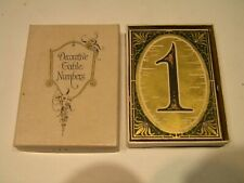 Vintage Art Deco Decorative Table Numbers With Box