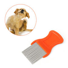 Head Hair Lice Nit Comb Pet Safe Flea Eggs Dirt Dust Remover Steel Tooth Brushes