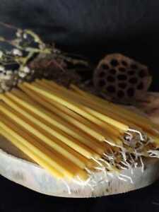 Bienenwachs kerzen Preis pro 10 stk Opferkerzen Stabkerzen Naturfarbe 25 cm
