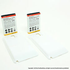 2 x 7000mAh Extended Battery for Samsung Galaxy Note 3 N9000 White Cover