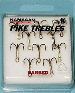 Kamasan Pike Trebles Barbed 10pcs