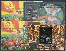 GUYANA-1994 Music Mushrooms Butterflyes Orchids 4s/s**