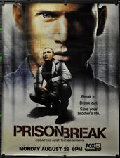 PRISON BREAK 2005 ORIG 46X60 ADV SUBWAY TV ADVERTISEMENT POSTER DOMINI PURCELL