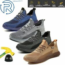 Men's Work Safety Shoes Steel Toe Bulletproof TPR Boots Lightweight Sneakers