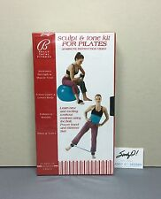 VHS SCULPT & TONE KIT for PILATES / Bally's Total Fitness / NEW