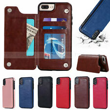 Magnetic Leather Wallet Case Card Slot Shockproof Flip Cover for iPhone XS MAX 7
