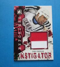 THEO PECKHAM  2011-12 Enforcer Game Used Jersey  Hockey Final Vault 1/1