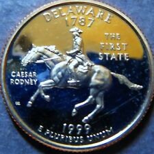 ">DELAWARE  1999-S  STATE QUARTER DOLLAR ""PROOF"" 1999 San Francisco Mint Coin #3"