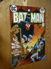 Batman #253 VF- Only the Shadow Knows ! Classic x-over