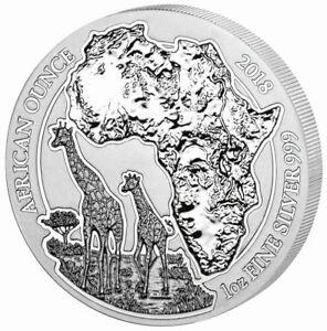 Rwanda Giraffe 2018 1 oz Silver UNC African Ounce
