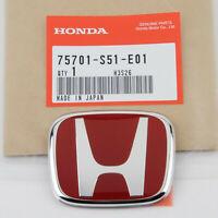FOR JDM HONDA CIVIC SI HATCHBACK TYPE-R EP3 2001-2005 RED H REAR BADGE EMBLEM