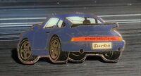 Porsche Pin 911 Turbo blau - Maße 50x25mm