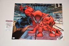 STAN LEE SIGNED AUTOGRAPHED 16x20 PHOTO JSA WP40624 spiderman marvel comics