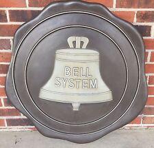 Vintage Bell Telephone HUGE Solid Cast Aluminum BELL SYSTEM Building Sign RARE