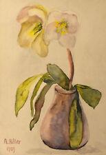Large Framed Print – Flower Painting Blumenstillleben by Adolf Hitler (Replica)