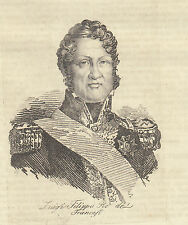 1840 Luigi Filippo re dei francesi bulino su rame