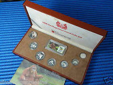 1998 Singapore Sterling Silver Proof Coin Set (1¢ - $5 Coin)