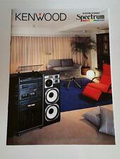 Vintage 90's Kennwood Spectrum Series Catalog Brochure