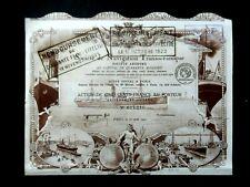 STE NAVIGATION TRANSOCÉANIQUE - ACTION 500 FRS - PARIS 1920