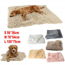 Puppy Pet Dog Cat Winter Warm Long Plush Fleece Sleeping Throw Blanket Mat Bed