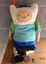ADVENTURE TIME plush Finn beat-up backpack Cartoon Network doll toy 21""