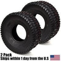 2PK 15X6X6 NHS 15X6.00-6 Turf Tires Garden Tractor Lawn Mower Riding Mower
