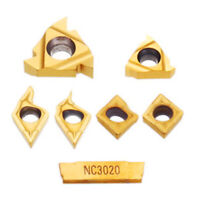 7x Carbide Inserts for 12mm Shank Lathe Boring Bar Turning Tool Holder MGMN200