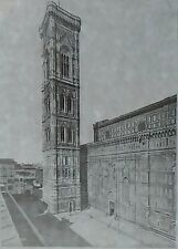 Campanile, Florence, Italy, Magic Lantern Glass Slide