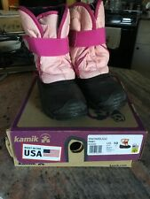 kamik Rain-Snow Pink boots Infant size 10 SnowBug 2