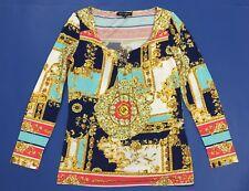Carmen Gherardi maglia maglietta top manica lunga donna tg 46 elasticizzata T762