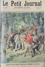 ITALIE SARDAIGNE ATTAQUE BRIGAND AFFICHE PLM AEROSTAT GRAVURE PETIT JOURNAL 1894