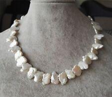 Weißen Barock Perle Halskette,Echte Perle Halskette