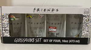 Friends The Television Series Set of Four 4 Glassware 16oz Pint Drinking Glasses